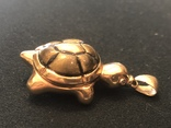 Кулон Черепаха. Золото 750 проба, фото №4
