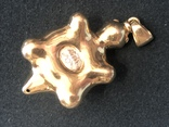 Кулон Черепаха. Золото 750 проба, фото №6