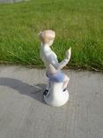 Фарфоровая фигурка статуэтка Футболист ГДР, фото №5