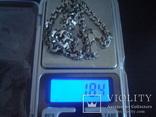 Цепочка серебро 925пр./18,4гр., фото №7