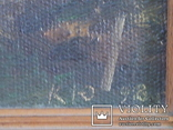 ''Вечер на Кинбурне''. Холст, масло. 30*30. 1998г. Корнюков Ю.К., фото №3