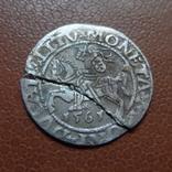 Полугрош 1561  серебро (М.3.24)~, фото №2