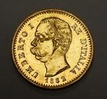 20 лир, Италия, 1882 г, фото №3