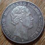 Саксония 2 талера 1854 г., фото №3