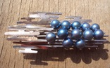 Брошь с голубым жемчугом, модернизм., фото №5
