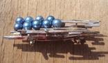 Брошь с голубым жемчугом, модернизм., фото №6