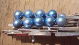 Брошь с голубым жемчугом, модернизм., фото №7