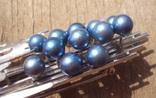 Брошь с голубым жемчугом, модернизм., фото №9