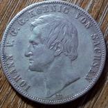 Саксония - Альбертина 1 талер 1861 г., фото №3