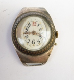 Старинные наручные Швейцарские часы в серебре с чернью. photo 1