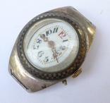Старинные наручные Швейцарские часы в серебре с чернью. photo 2
