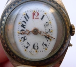 Старинные наручные Швейцарские часы в серебре с чернью. photo 3