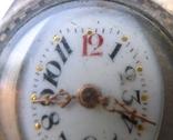 Старинные наручные Швейцарские часы в серебре с чернью. photo 4