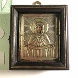 Икона в серебряном окладе (84проба) в киоте photo 1