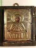 Икона в серебряном окладе (84проба) в киоте photo 3