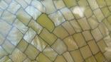 Старинный набор в футляре. Зеркало, расчёска, щётки. Перламутр, имитация панциря черепахи. photo 11