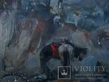 Ярослав Фектистов В дозоре 2000г. картон масло 37х43см, фото №6
