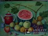 Иван Гузь Кухонный натюрморт 1987г. бумага акварель 47х36см, фото №4