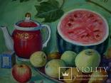 Иван Гузь Кухонный натюрморт 1987г. бумага акварель 47х36см, фото №6