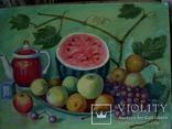 Иван Гузь Кухонный натюрморт 1987г. бумага акварель 47х36см, фото №12