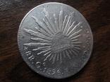 8 риалов 1896  Мексика серебро   (Л.6.10)~, фото №3
