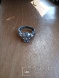 Кольцо викинг  серебро 925пр копия, фото №2