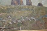 М.В. Антипов. Сенокос окончен. 1989. 60х80, фото №12