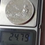 5 песет, Испания, 1870 год, серебро, 0.900, 25 грамм, фото №4