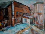 Картина маслом, городской пейзаж, фото №2