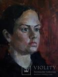Картина маслом, портрет актрисы, фото №2