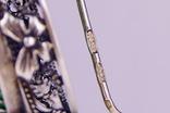 Серебряные серьги 925 жадеит, фото №5