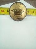 Большая пуговица с короной в позолоте., фото №5