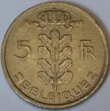 Бельгія 5 франків, 1977 BELGIQUE