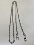 Длинная цепочка-карабин 33 грамма, фото №2