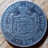 Гессен - Кассель 1 талер 1865 г., фото №2
