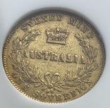 Соверен 1867 год Австралия золото 7,99 грамм 917', фото №5