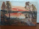 Картина Сельский закат., фото №4