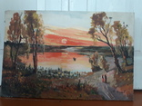 Картина Сельский закат., фото №7
