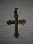 Византийский крест с алмазами и рубинами