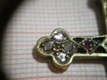 Византийский крест с алмазами и рубинами фото 6