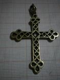 Византийский крест с алмазами и рубинами фото 7