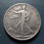 50 центов  1943 США  серебро      (Ж.4.5)~, фото №2