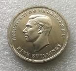 Великобритания. 5 Шиллингов / Крона 1951 г. Proof. Георг VI, фото №2