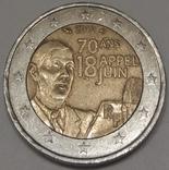 Франція 2 євро, 2010 70 років промові Шарля де Голля «До всіх французів»