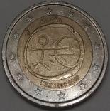 Іспанія 2 євро, 2009 10 років Економічному і монетарному союзу і введенню євро
