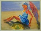 """Картина """"Жара"""" - 60 Х 80 см. Автор Андрей Забора, написана в 2016 г."""