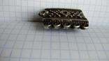 Часть пояса серебро 84пр. чернение именник В.Г масса 20,07г, фото №5