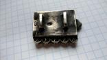 Часть пояса серебро 84пр. чернение именник В.Г масса 20,07г, фото №12