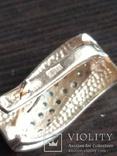 Серьга, золото 585, трезубец, с камешками., фото №4