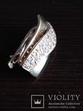 Серьга, золото 585, трезубец, с камешками., фото №7